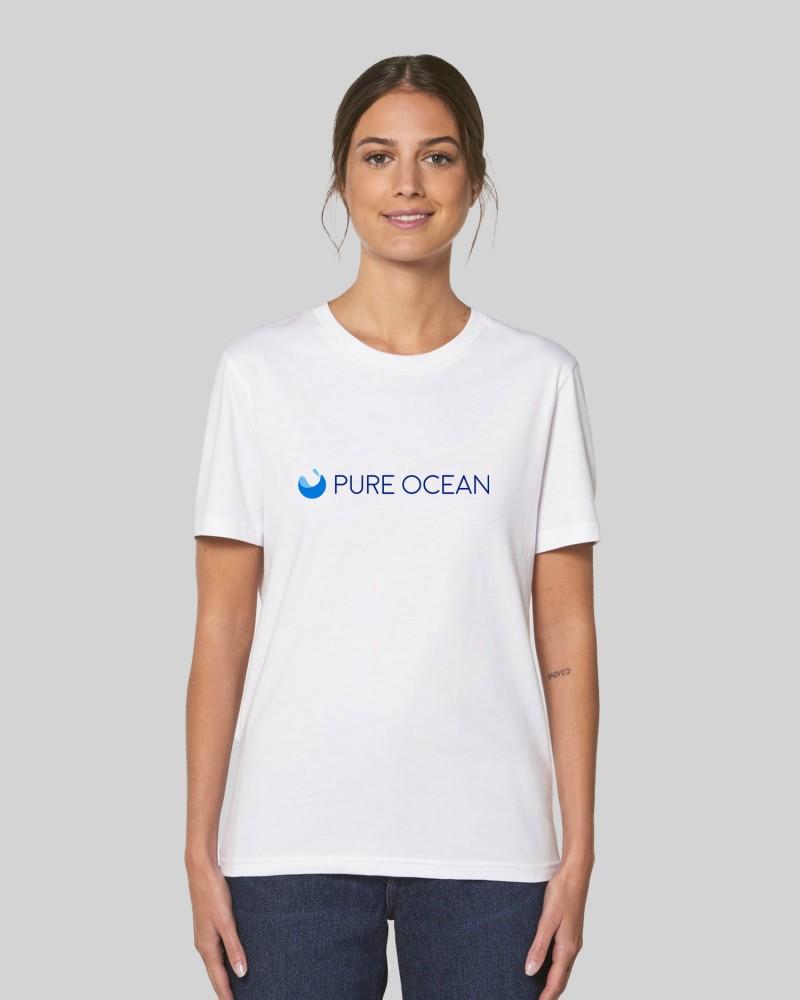 T-shirt blanc - Pure Ocean - porté sur mannequin
