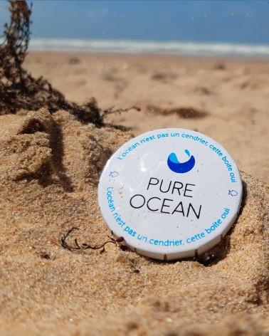 Cendrier de poche - Pure Ocean - fermé - plage