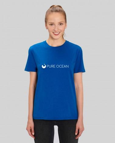 T-shirt bleu - Pure Ocean - porté sur mannequin