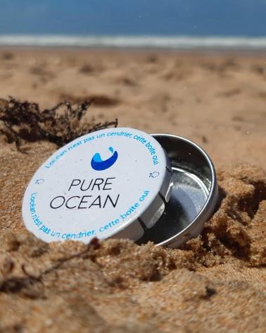 Cendrier de poche - Pure Ocean - ouvert - plage